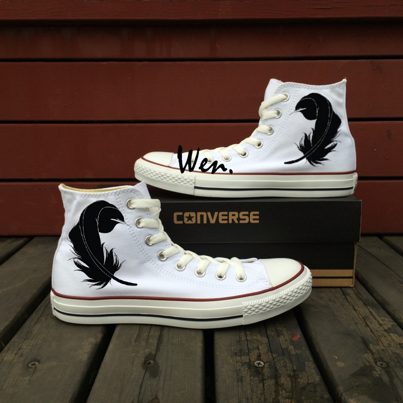 Design Feather Silhouette White Converse All and 50 similar