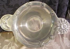 Vari Disenos vintage Ismael Vanlenzuela Romo Sun Moon serving bowl pewter - $61.36