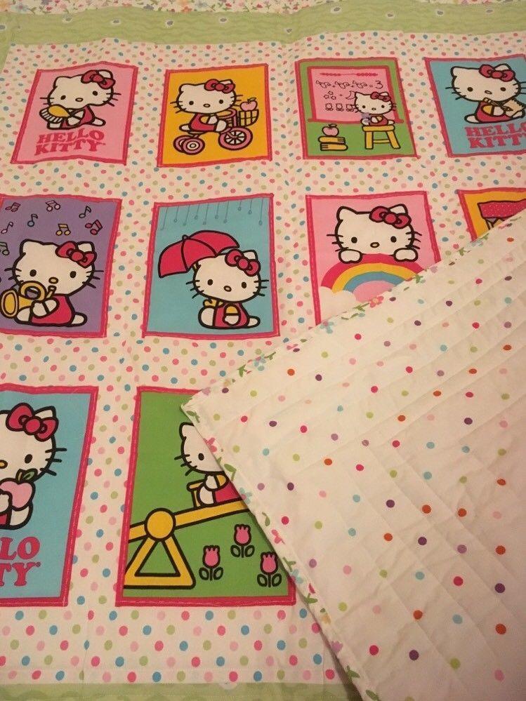 Hello Kitty handmade lap quilt