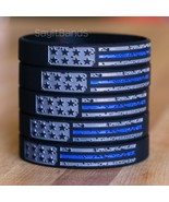 Worn Distressed USA Flag Thin Blue line Wristband Set - Police Bracelet Lot - £4.31 GBP+