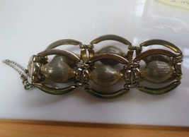 Vintage Monet Silvertone Bracelet   - $32.18