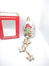 "VINTAGE 1980 JASCO BISQUE PORCELAIN  CHRISTMAS CHIME "" BOY CAROLER"" W/ BOX - $9.85"