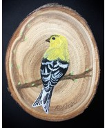 Goldfinch wood slice magnet/ornament - $15.00