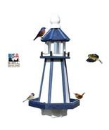 "27"" LIGHTHOUSE BIRD FEEDER - 4.5 qt Blue Nautical Weatherproof Recycled ... - $215.57"