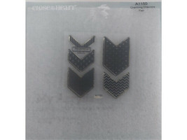 Close to My Heart Charming Chevrons Flair Clear Acrylic Stamp Set #A1150