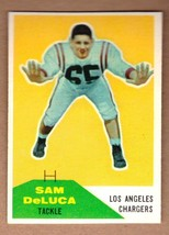 1960 Fleer #89 Sam DeLuca Los Angeles Chargers AFL 1st season NM condition - $7.95