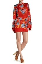NEW Free People 2 AM Printed Floral Mini Dress Red Size XS - $45.54