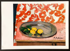 Hand signed signature - Henri Matisse - vintage Circa 1940s 1950S print - $100.00