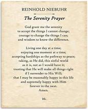 Reinhold Niebuhr - Serenity Prayer, God Grant Me Serenity, Courage, Wisd... - $16.40