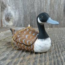 Vintage Canada Goose Ornament Duck Geese Bird Decoy Christmas Hong Kong  - $41.57