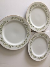 "Bell Flower Fine China 10 1/4"" Dinner Plates Japan 2999 Set Of 3 Ea - $14.04"