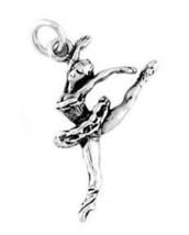 Sterling Silver Jumping Ballerina CHARM/PENDANT - $9.40