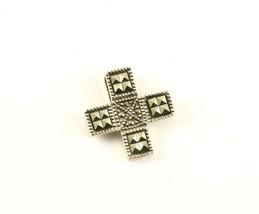 Vintage Small Marcasite Cross Ornamental Design Pendant 925 STERLING PD ... - $25.99
