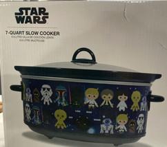 Star Wars 7 Quart Slow Cooker Crock Pot 6.6 Liter By Disney NEW - $57.98