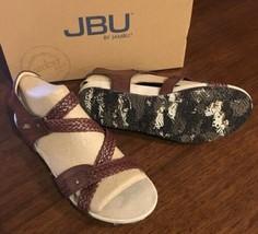 JAMBU Jbu Loreta Womens Braided Mahogany Brown Sandals Low Heels BRAND NEW 8.5 - $31.00