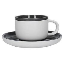 La Cafetière Barcelona Cool Grey Tea Cup And Saucer, Card Sleeve - $17.69