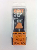 "CMT 836.190.11 Chamfer 25° Router Bit, 1/4"" Shank, 7/8"" Diameter,  Made in Italy - $21.36"