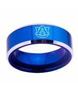 Auburn Tigers NCAA Sport Team Logo Tungsten Carbide Blue Ring D2 - $32.99