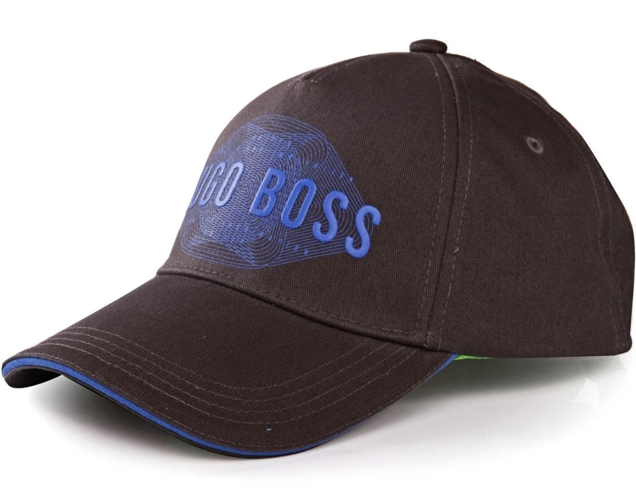NEW HUGO BOSS MEN'S PREMIUM ADJUSTABLE COTTON SPORT LOGO HAT CAP GRAY 50294635
