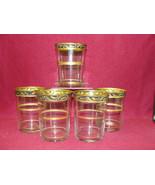 "(5) Antique HAWKES Crystal - 4"" TUMBLERS - Gold encrusted Laurel band rim - $89.95"