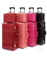 Retro bag luggage Set suitcase women men travel bags,leather the box PU ... - $186.99+