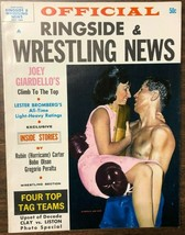 OFFICIAL RINGSIDE WRESTLING NEWS magazine 1964 article by Rubin Hurrican... - $14.84