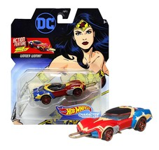 Hot Wheels Wonder Woman Action Feature with Sliding Lasso of Truth Mint ... - $12.88