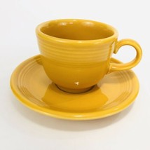 Fiesta Marigold Cup And Saucer Yellow Set Contemporary Fiestaware Coffee Tea - $14.80
