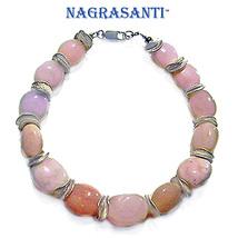 Nagrasanti SS Pink Opal Bracelet - $55.00