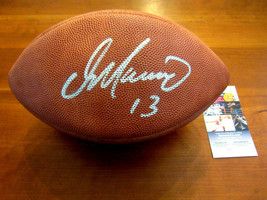 DAN MARINO # 13 MIAMI DOLPHINS HOF SIGNED AUTO OFFICIAL WILSON FOOTBALL JSA - $296.99