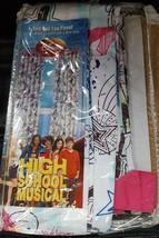 Disney High School Musical Tab Top Curtain Panel - 42x84 - BRAND NEW IN ... - $29.69