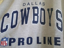 Vintage Dallas Cowboys NFL Heather Gray XL Sweatshirt Champion Pro Line NWT - $34.99
