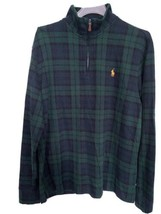 Men's Polo Ralph Lauren Green Plaid Cotton Quarter-Zip Pullover Sweater ... - $49.99