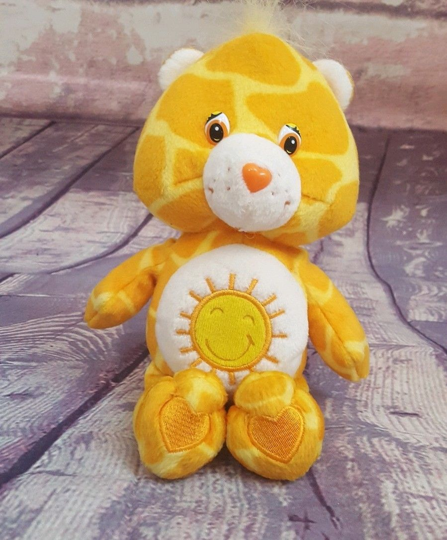 "11/"" Funshine Care Bear Plush Yellow Sunshine Tummy Stuffed Animal EUC"