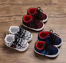 3 Color Baby Soft Bottom Toddlers Shoes 0-18 Months Baby Shoes #1112 - $16.00