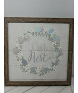 New Colleen Karis Designs 12x12 our nest wedding marriage gift home decor - $24.75