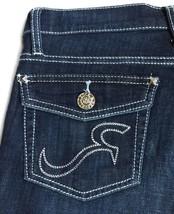New ROCK & REPUBLIC Size 4 Crystal Ball Cropped Carpi Stretch Jeans Капр... - $60.00