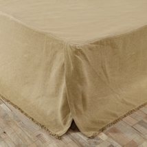 Bulap Natural Fringed Bed Skirt for King/California King - Soft Cotton - VHC
