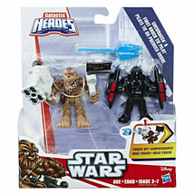 Star Wars Galactic Heroes Chewbacca & First Order TIE Pilot Hasbro Sealed - $19.18
