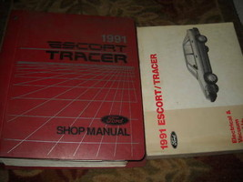1991 Ford Escort & Mercury Tracer Service Shop Repair Manual Set W EVTM ... - $9.89