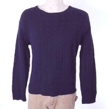 Polo Ralph Lauren Men's Blue Cable Knit Sweater 100% Cashmere Sz XL EUC - $51.99