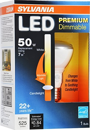 Sylvania 79659 Led Bulb Dimmable 7W R20 / Medium Base/ 3000K Warm White,