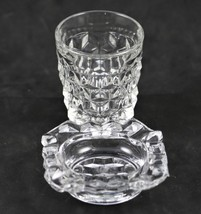 American, Pattern No. 2056, Whiskey Shot Glass & Indiv. Ashtray, made by... - $15.00