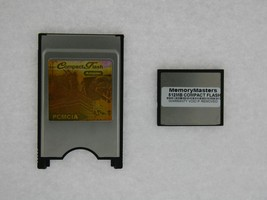 512MB Compact Flash +Pc Card Pcmcia Adapter Janome 512MB - $29.45