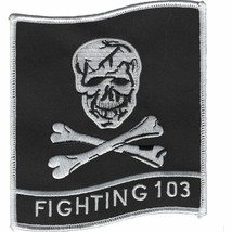 US Navy Strike Fighter Squadron 103 VFA-103 Jolly Rogers Patch Sticker - $9.89