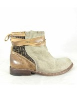 6.5 - HOLDING HORSES Anthropologie Gray & Brown Suede Ankle Boots 0000MB - $90.00