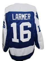 Custom Name # New Brunswick Hawks Hockey Jersey New Blue Steve Larmer Any Size image 2