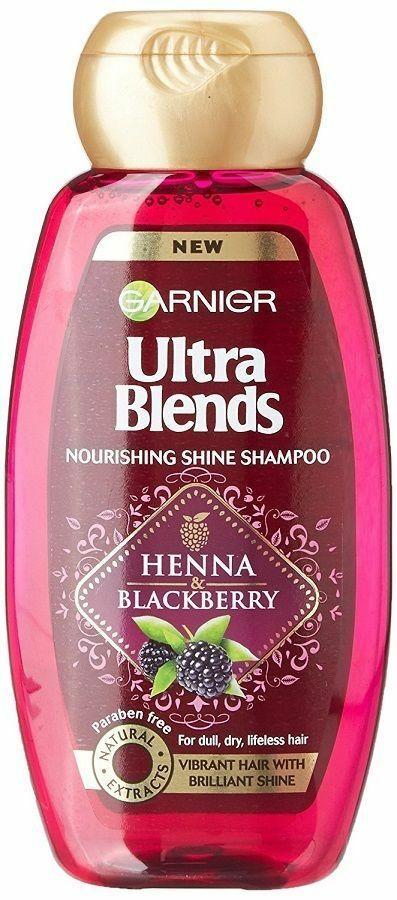 Garnier Ultra Blends Nourishing Shine Henna Blackberry Shampoo 180ml - $11.17