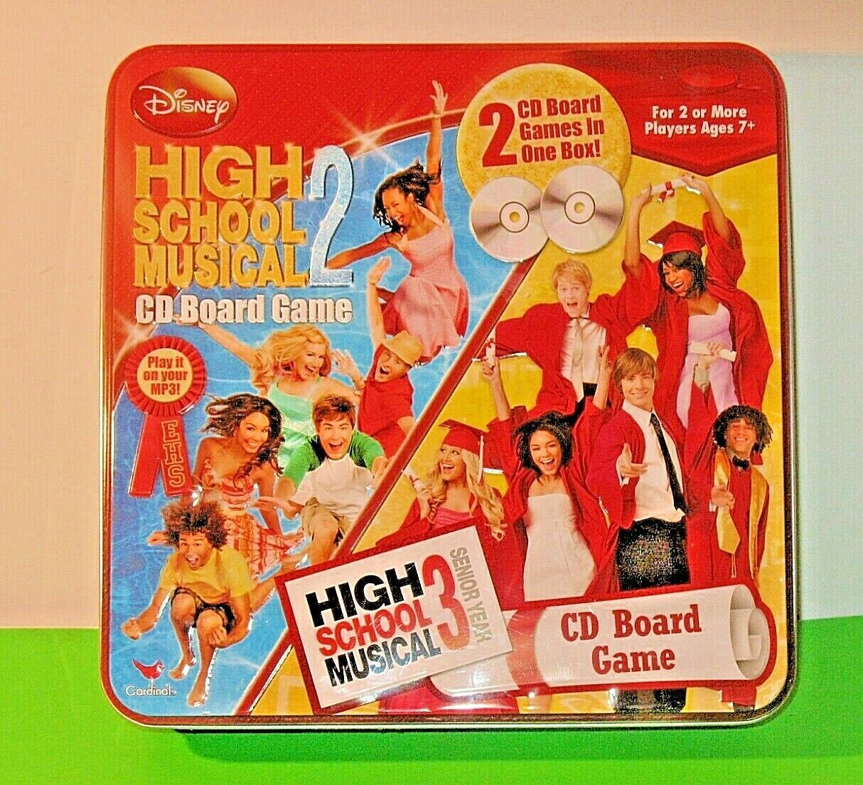 High School Musical 2 & 3  CD Board Game;  Both Games In One Collectible Tin