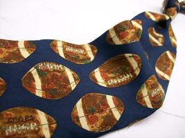 CHAPS Ralph Lauren FOOTBALLS Mens 100 SILK Necktie s 825*931 - $9.89